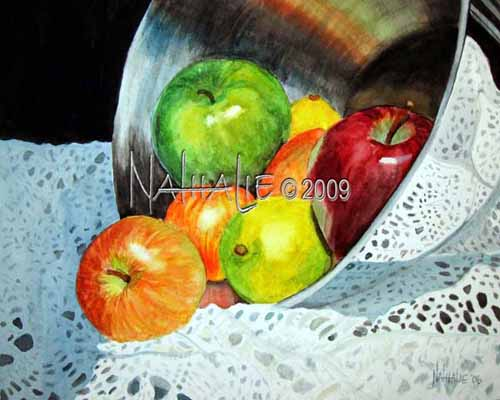 Apples, Chrome and Crochet Nathalie Kelley Watercolor