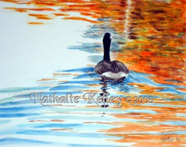 Floating into Fall Nathalie Kelley Watercolor