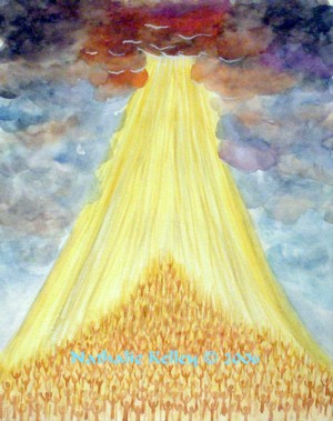 Intercession and An Open Heaven Nathalie Kelley Prophetic Art