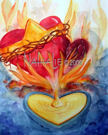 Purify My Heart Nathalie Kelley Prophetic Art