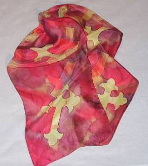 Crosses Silk Scarf
