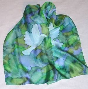 Doves Silk Scarf