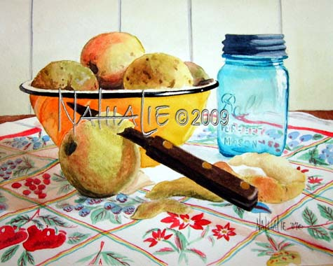Canning Season Nathalie Kelley Watercolor