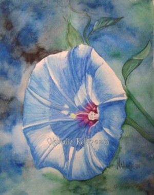 Good Morning Glory Nathalie Kelley Watercolor