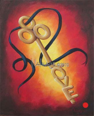 Love is the Key Nathalie Kelley Prophetic Art