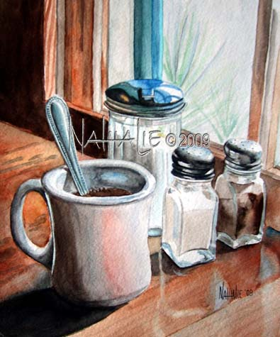 Palo Pinto Cafe Nathalie Kelley Watercolor
