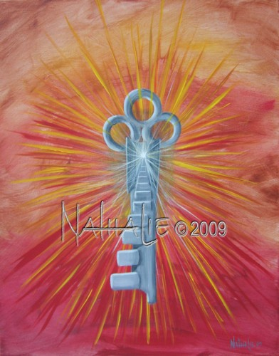 Key with Steps Nathalie Kelley Prophetic Art