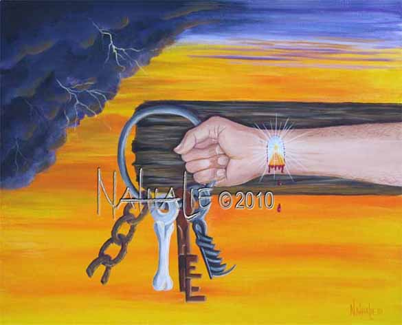 He Took The Keys Nathalie Kelley Prophetic Art